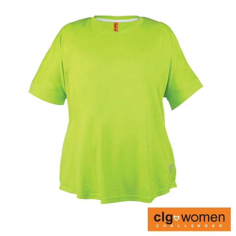 CHALLENGER WOMEN PLUS SIZE Ladies V-Neck Tee CHW100001 (Green)