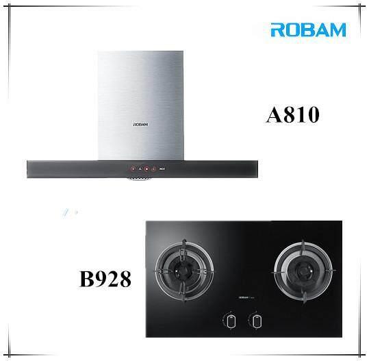 ROBAM A810 Chimney Hood +  B928 2 Burners Glass Hob