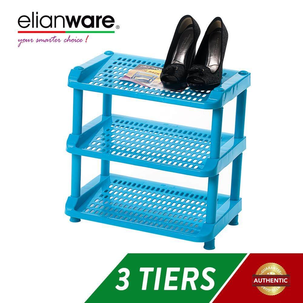 Elianware 3 Tier Durable Shoe Rack Rak Kasut Shoe Organizers Space Savers