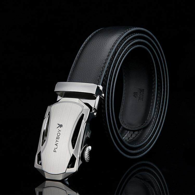 Playboy Men Leather Automatic Buckle Waist Belt Tali Pinggang 244 -MI2442
