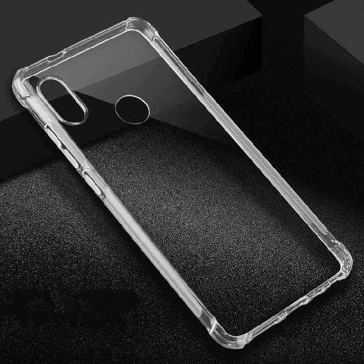 TPU Silicone Soft Gel Case for Xiaomi Mi Max 3 4 corner thick protective (Transparent)