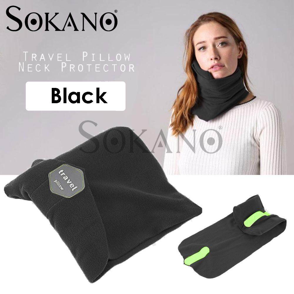 SOKANO Travel Pillow Neck Protector Rest Support Case Fitted Compact