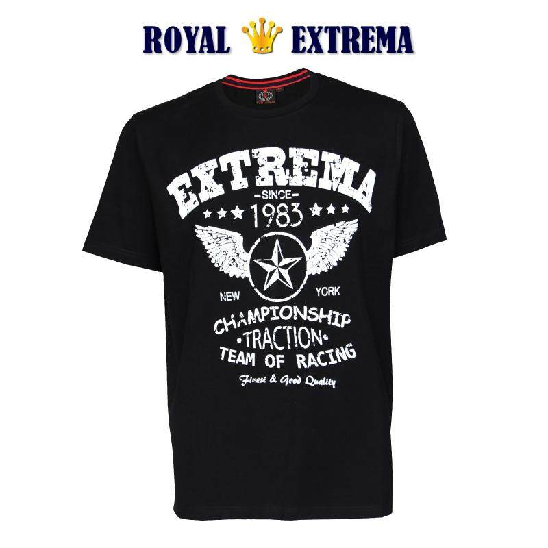 ROYAL EXTREMA BIG SIZE Printed T-shirt RE1005 (Black)