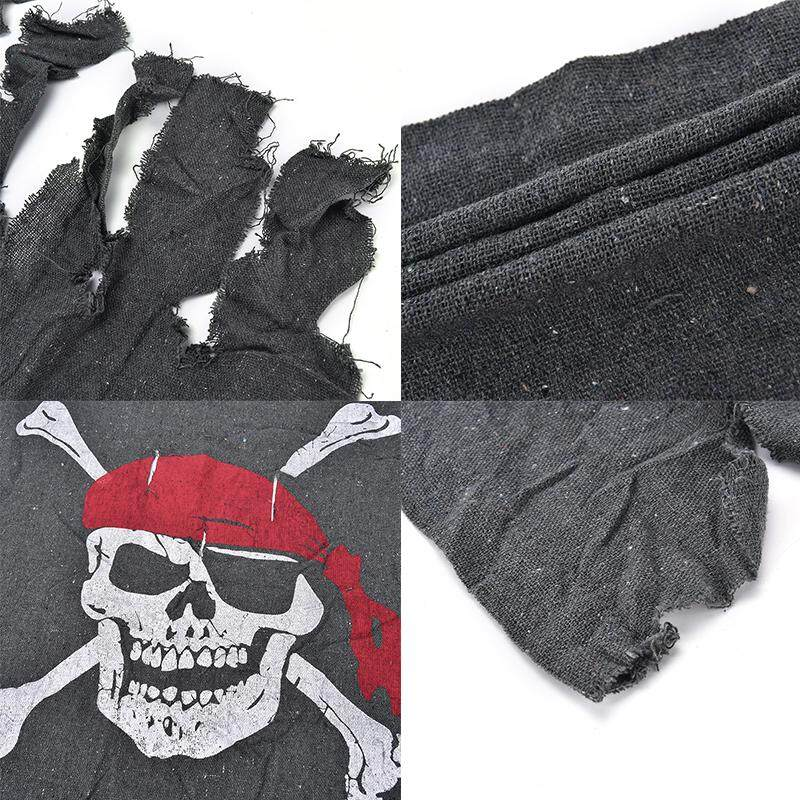 Pop Linen Flag Pirate Raw & Bloody Bones Skeleton Theme Party Decoration 60*88cm