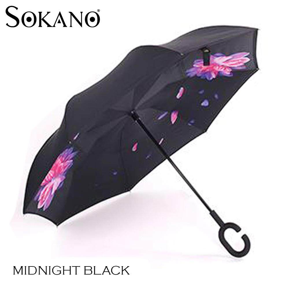 SOKANO 3rd Gen Premium Quality Inverted Reverse Double Layer Umbrella with C Hook