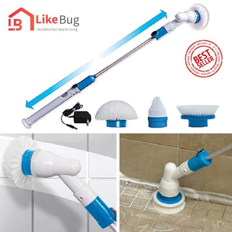 LIKE BUG: Wireless Electric Powered Spin Scrubber with 3 Scrubbing Heads