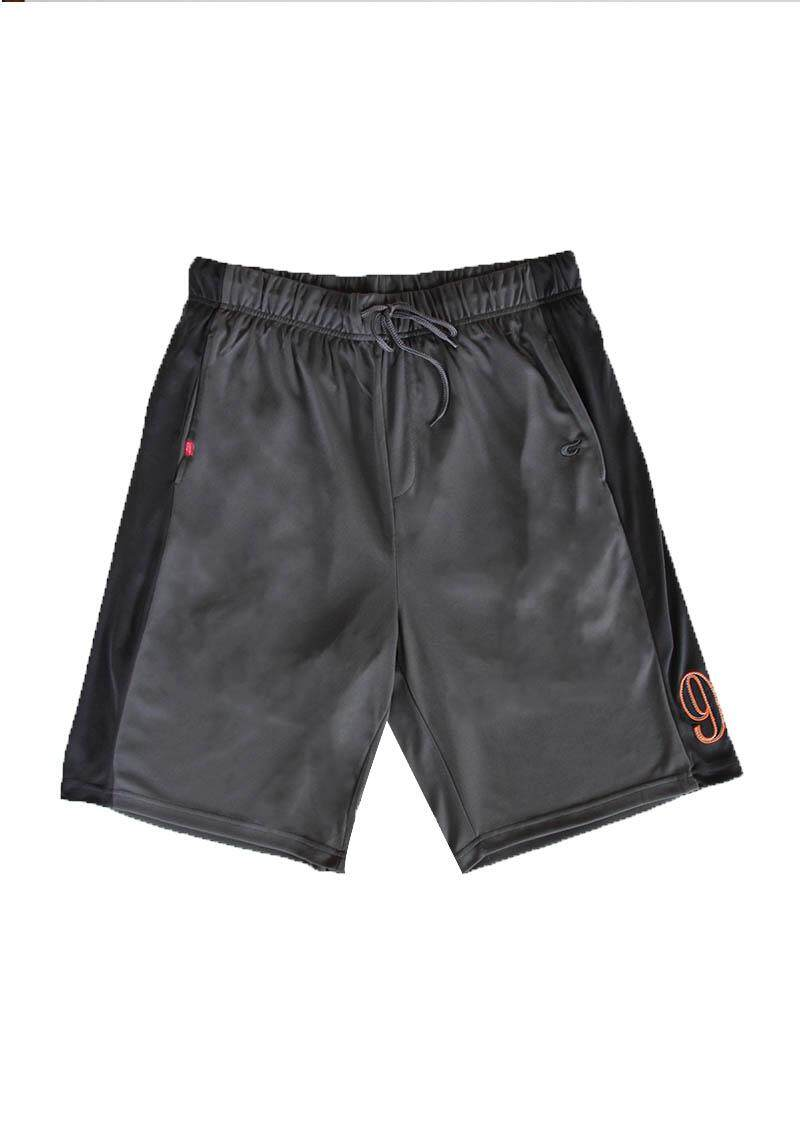 CHALLENGER BIG SIZE Cut and Sew Microfiber Shorts with Lining CH5020 (Charcoal Grey)