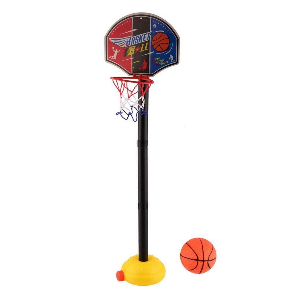 Elec Anak-anak Olahraga Bola Basket Portabel Set Mainan dengan Berdiri Bola & Pompa Balita