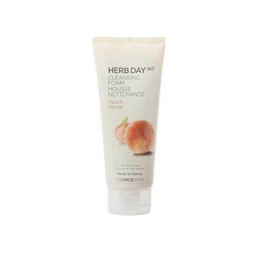 THE FACE SHOP Herb Day 365 Cleansing Foam 170ml - Peach