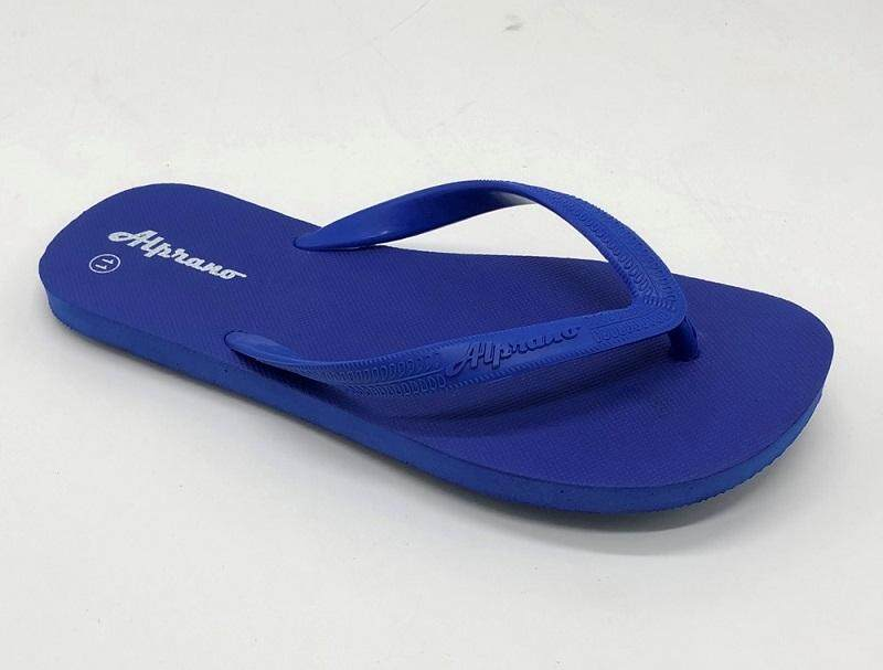 Alprano APM-01 Rubber Anti Slip Flat Slippers Beach Slippers Men Designs Size 9-11 (UK Size 8) (Blue)