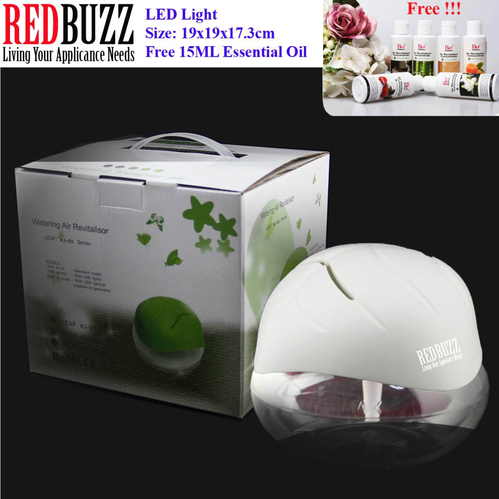 REDBUZZ Watering Air Revitalisor Fresh Air Purifier Aroma Diffuser with LED light + Free 15ML Essential Oil (White Color)