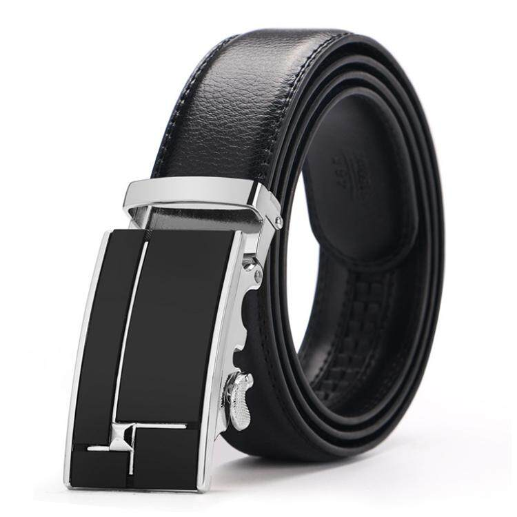 Doulilu Men Leather Belt Premium Quality Smooth Automatic Buckle Tali Pinggang Waist Belt 256 -MI2561