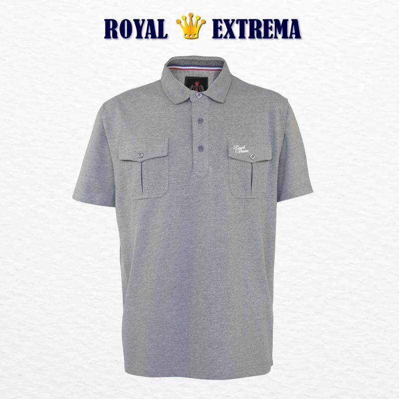 ROYAL EXTREMA BIG SIZE Collar Tshirt with Double Pockets RE2011 (Melange)