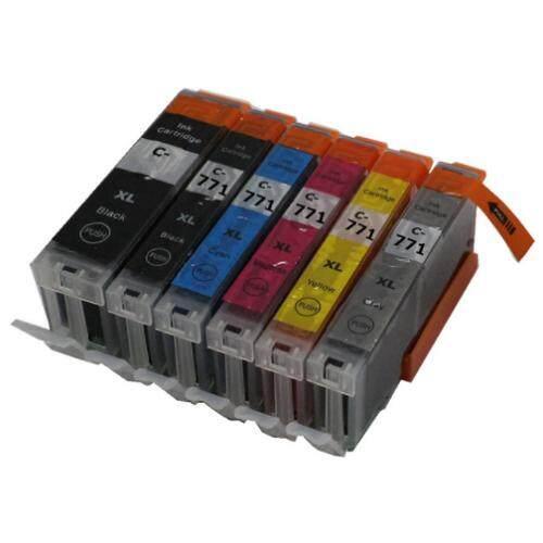 PGI770XL CLI771 XL Compatible 6 Multi Pack Ink Cartridge (B/C/M/Y/GY)