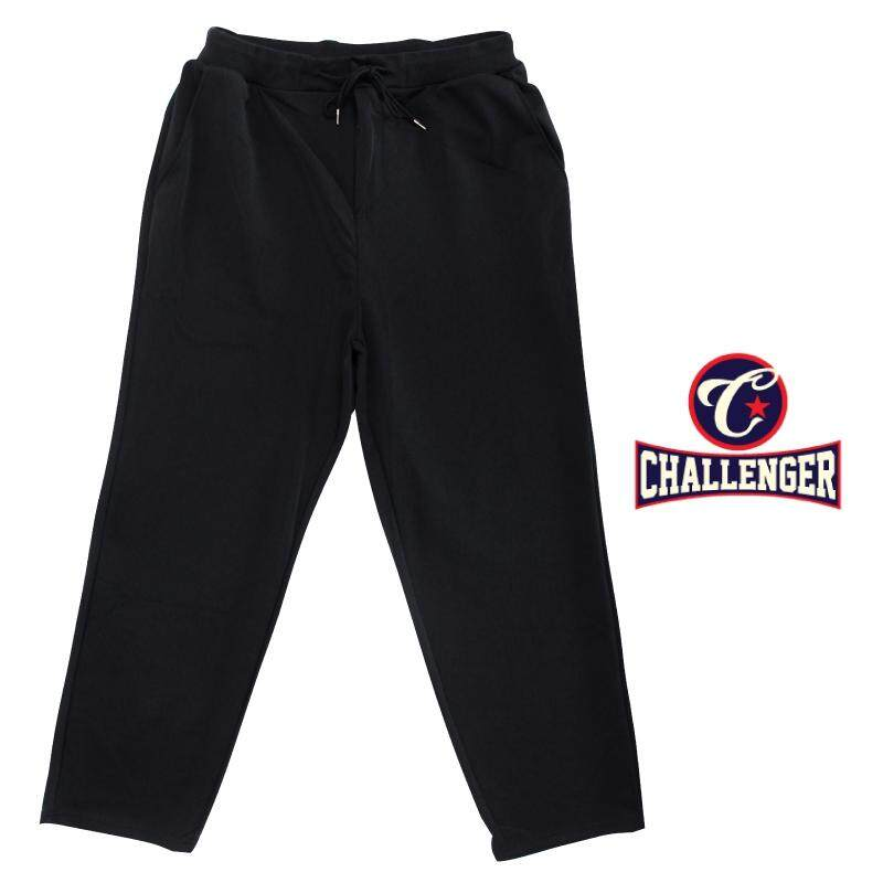 CHALLENGER BIG SIZE Microfiber Spandex Long Pants with Zipper Fly CH6045 (Black)