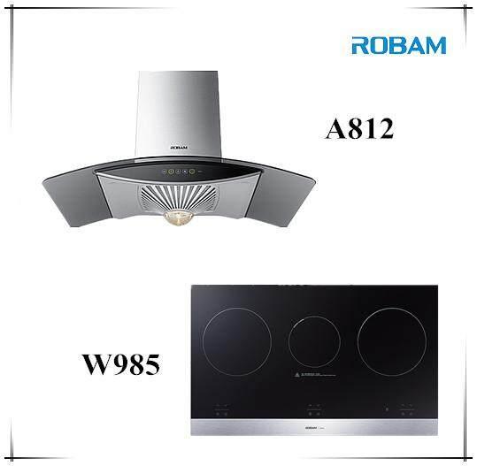 ROBAM A812 Chimney Hood + W985 Electric Hob