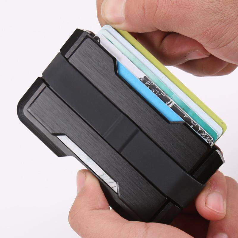 RFID Ridge US Popular Metal Money Clip Aluminium Wallet Card Holder Special Collection Card Case MI2681