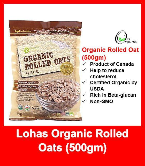 Canada Organic Rolled Oat / 500gm (EXPIRY DATE 2020/12)