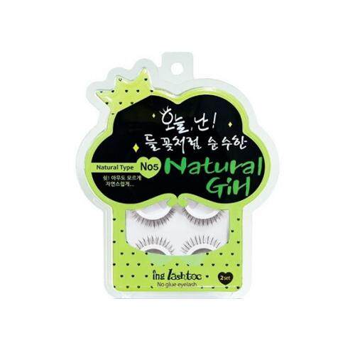 ING LASHTOC No Glue Eyelash 100g - 05 Natural Girl