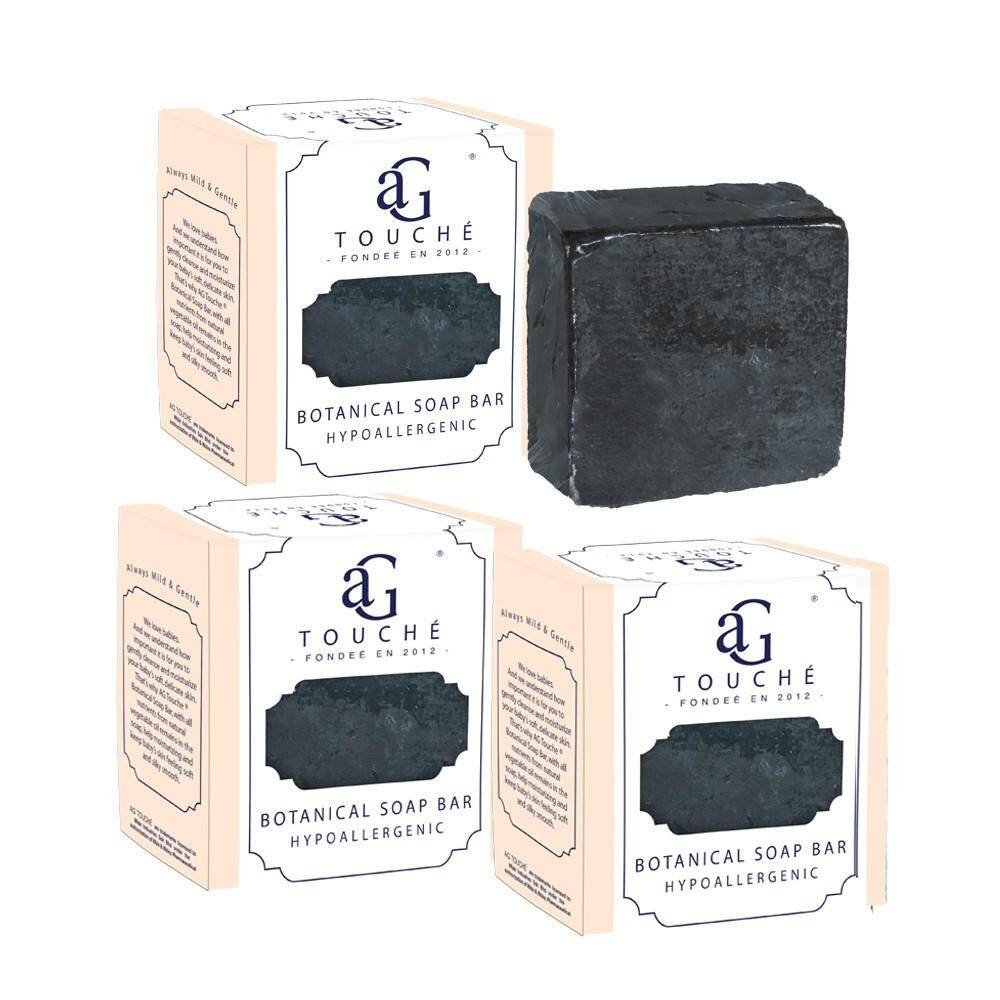 AG Touché Botanical Baby Soap Bar Bamboo Charcoal (80g) [Bundle of 3]