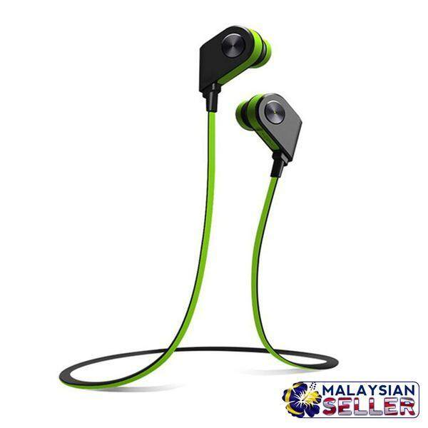 AMW-26 Bluetooth Sports Stereo Wireless Headset Sweatproof Lightweight-Green