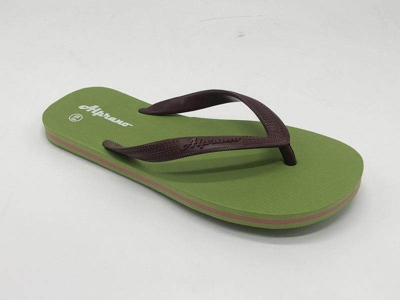 Alprano APM-06 Rubber Anti Slip Flat Slippers Beach Slippers Men Designs Size 9-11 (UK Size 10) (Green)