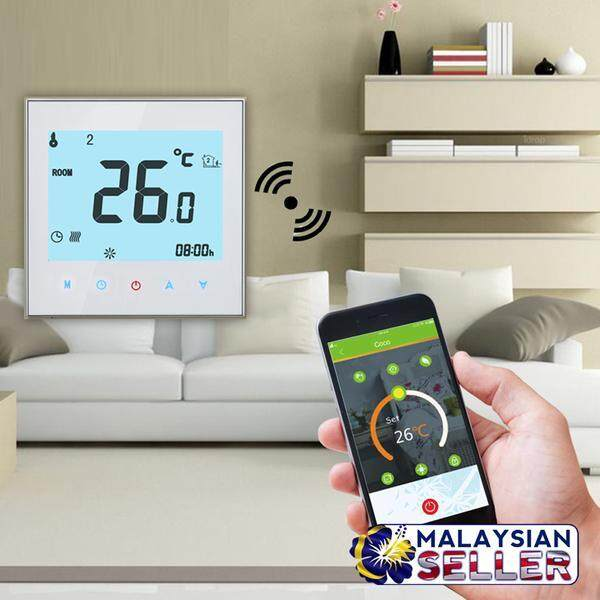 BHT-1000 95-240V 95-240V  16 A Wifi Thermostat Smart App Remote Control Heating System Touch Screen Temperature Regulator