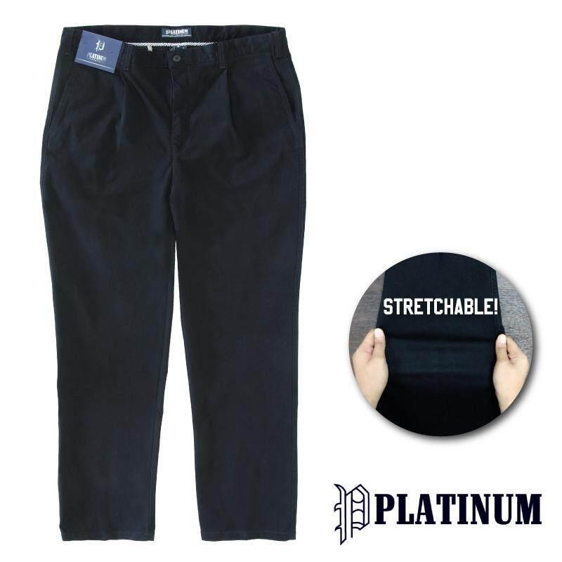 PLATINUM BIG SIZE Stretchable Fine Cotton PM654 (Black)