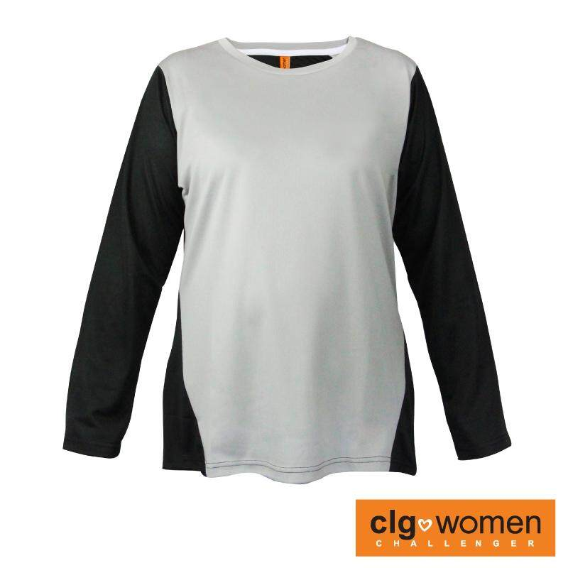 CHALLENGER WOMEN PLUS SIZE Round Neck Mix and Match Tee CHW300001 (Grey)