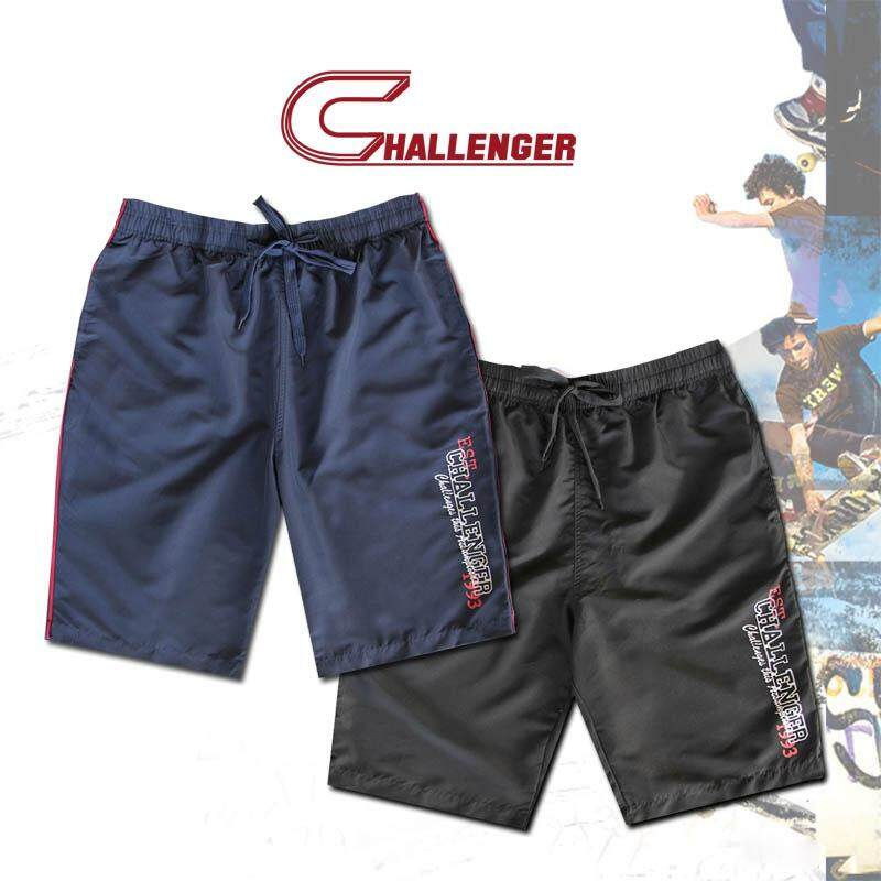 CHALLENGER BIG SIZE Short Track Bottom with Printing CH5018 (Navy)