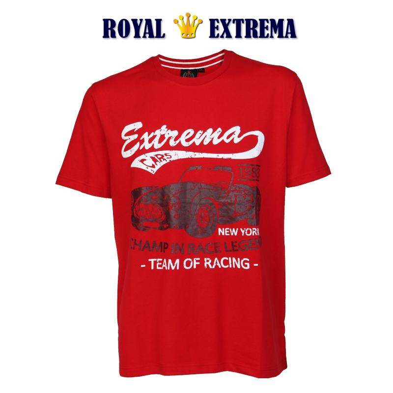 ROYAL EXTREMA BIG SIZE Printed T-shirt RE1003 (Red)