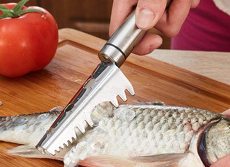 SUS-304 Stainless Steel Fish Scaler / Scale Remover