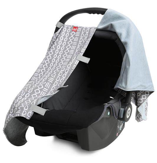 "ab New Zealand Infant Car Seat Carrier ""All-Season"" Fabric Cover Privacy When Baby Sleeping"