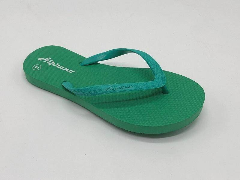 Alprano APL-01 Rubber Anti Slip Flat Slippers Beach Slippers Ladies Designs UK Size 5 (Green)
