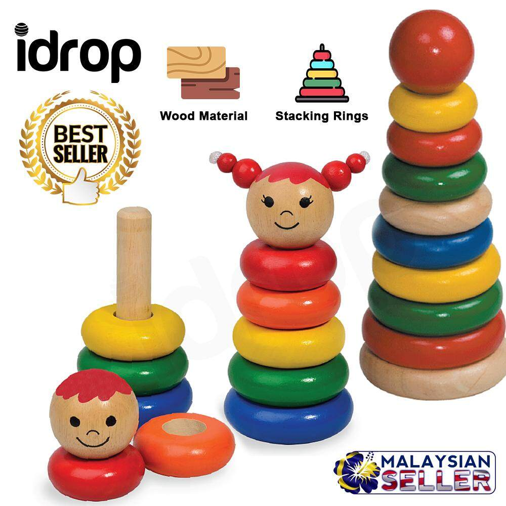 Creative Colorful Wood Stacking Rings / Boy / Girl Toy for Kids Children Toys for boys - Stacking Girl