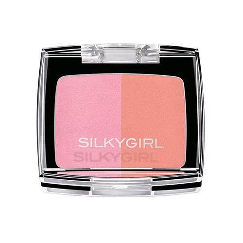 SILKYGIRL Shimmer Duo Blusher 4g - 01 Cheeky Peach