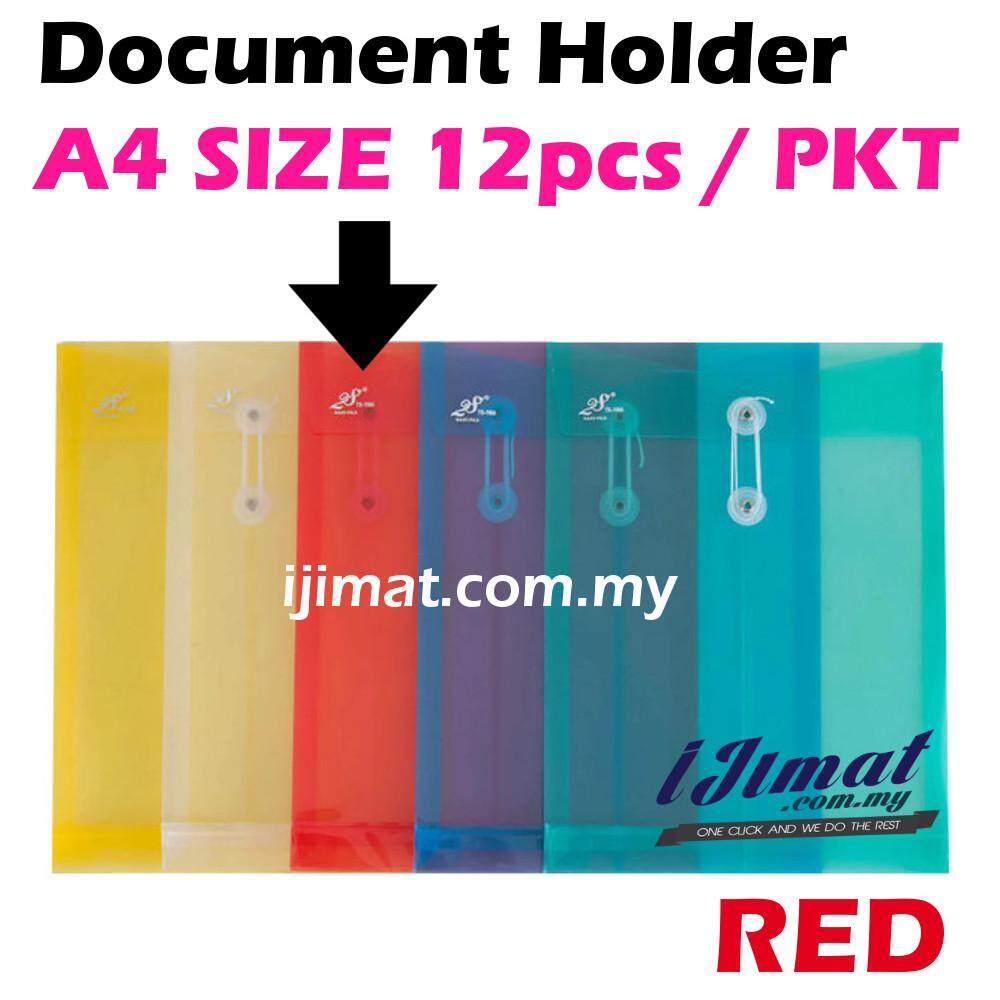 I JIMAT East-File TS-118A TS118A 118A Envelope File Colour Document Holder 12pcs/pack (RED) Color