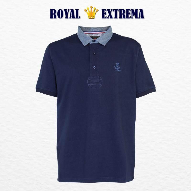 ROYAL EXTREMA BIG SIZE Woven Collar Tshirt RE2016 (Navy)