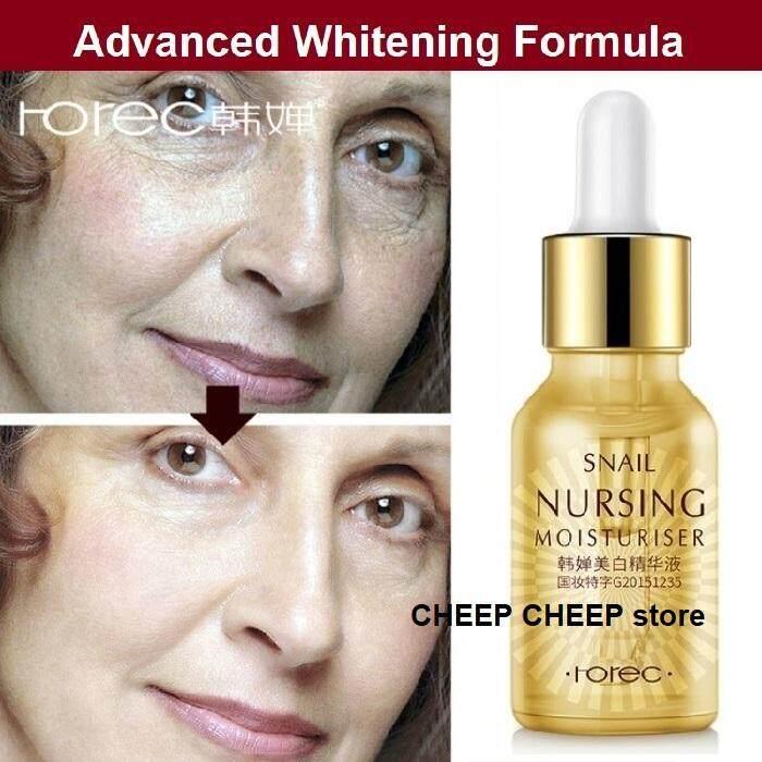 Rorec Snail Essence Snail Nursing Moisturizer (Nursing Snail Mticulos) – Intensive Whitening Anti Wrinkle Anti-Aging Brightening Firming Serum 15ml