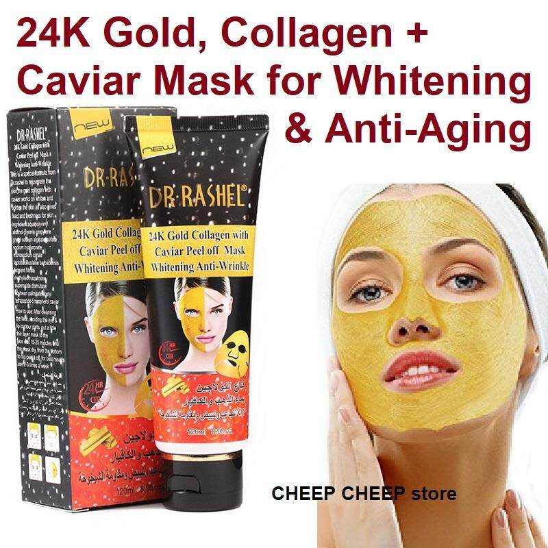 Dr Rashel دبي 24K Gold Collagen Caviar Peel Off Mask – Anti-Aging Anti-Wrinkle Whitening Rejuvenating 120ml