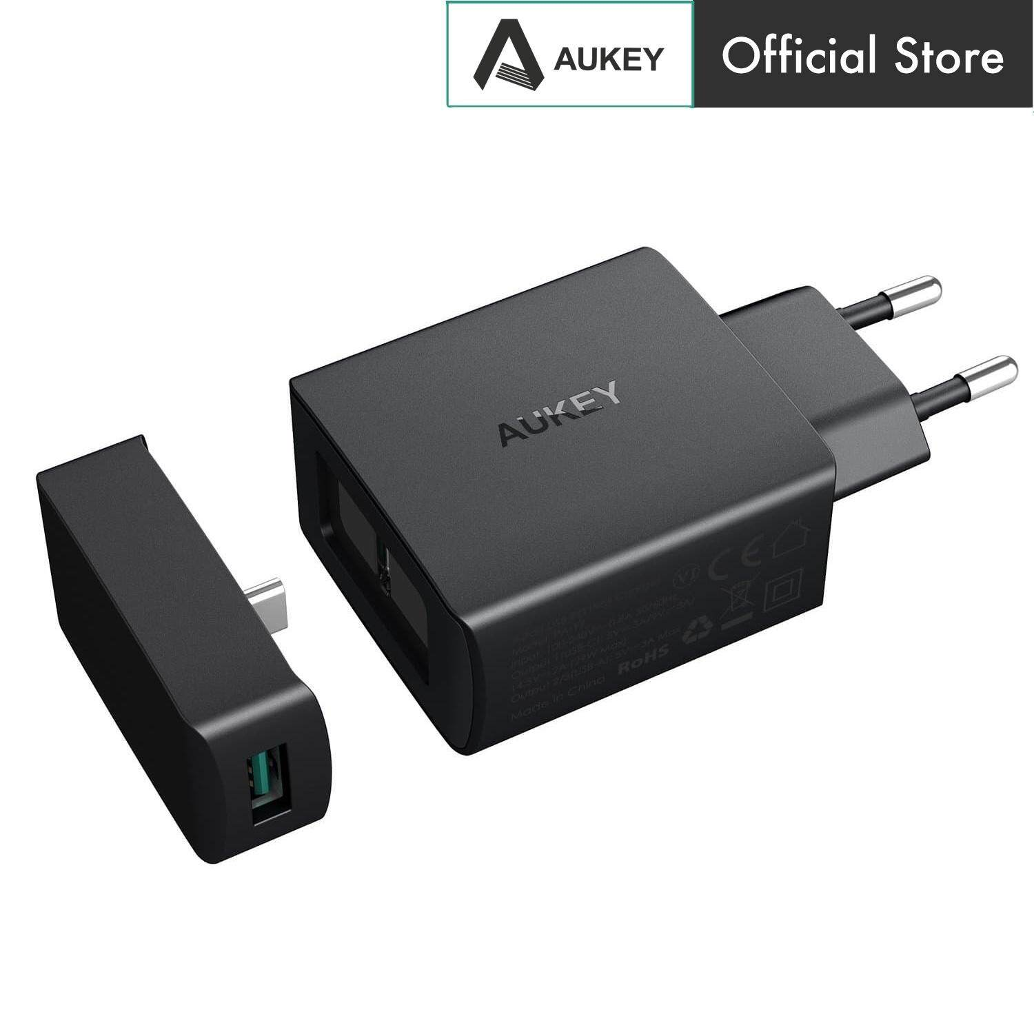 Aukey PA-Y7 29W Amp Duo Power Delivery 3.0 Type C 1+2 Port Turbo Wall Charger - EU Plug