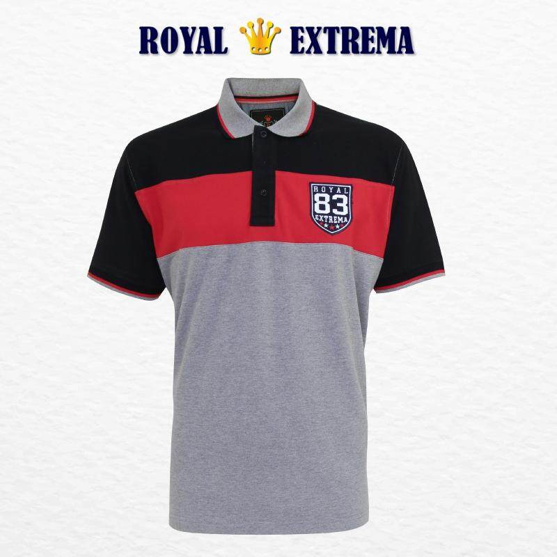 ROYAL EXTREMA BIG SIZE Men's Pique Polo Cut & Sew Tee RE2006 (Melange)