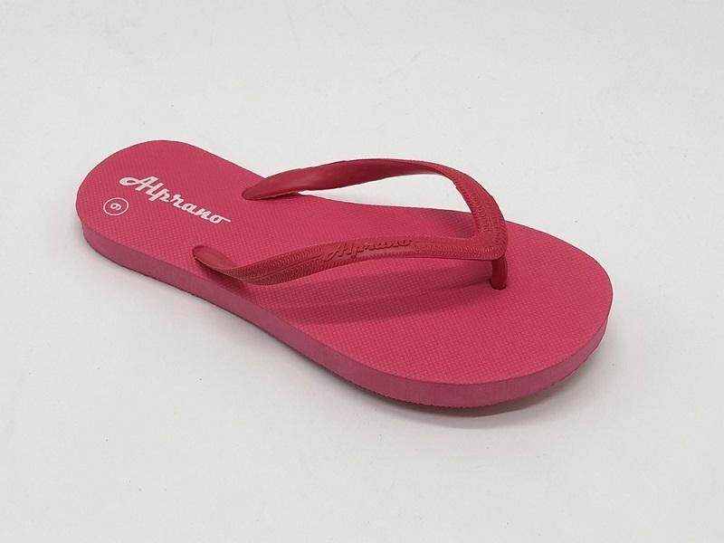 Alprano APL-01 Rubber Anti Slip Flat Slippers Beach Slippers Ladies Designs UK Size 6 (Pink)