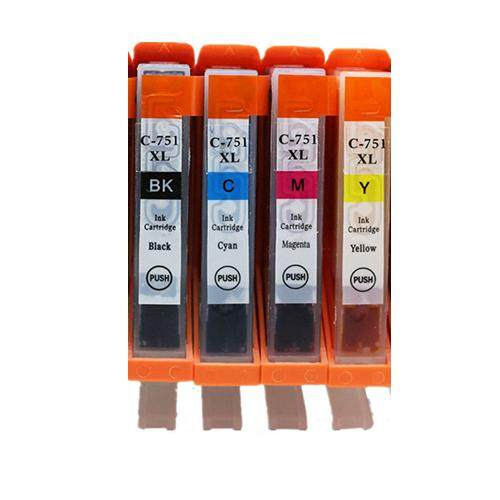 CLI 751 XL Compatible CLI751 XL Twin Pack CLI-751XL Ink Cartridge (B/C/M/Y)