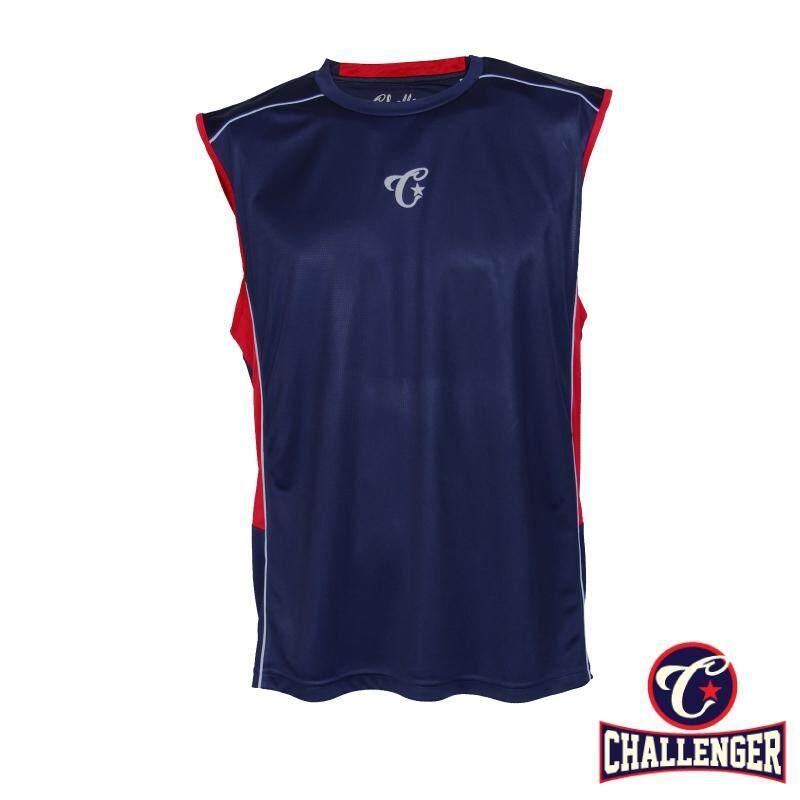 CHALLENGER BIG SIZE Cut & Sew T-shirt CH1501 (Navy)