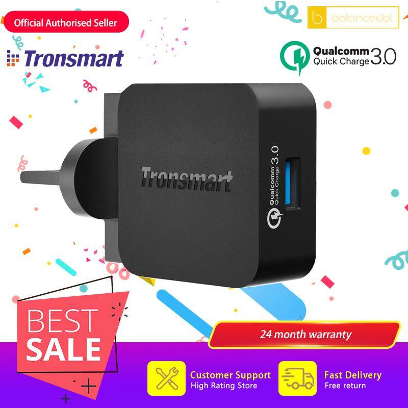 [Qualcomm Certifed] Tronsmart WC1T Compatible Quick Charge 3.0 & Huawei FCP Fast Charging 1 Port UK Wall USB Quick Charge Charger