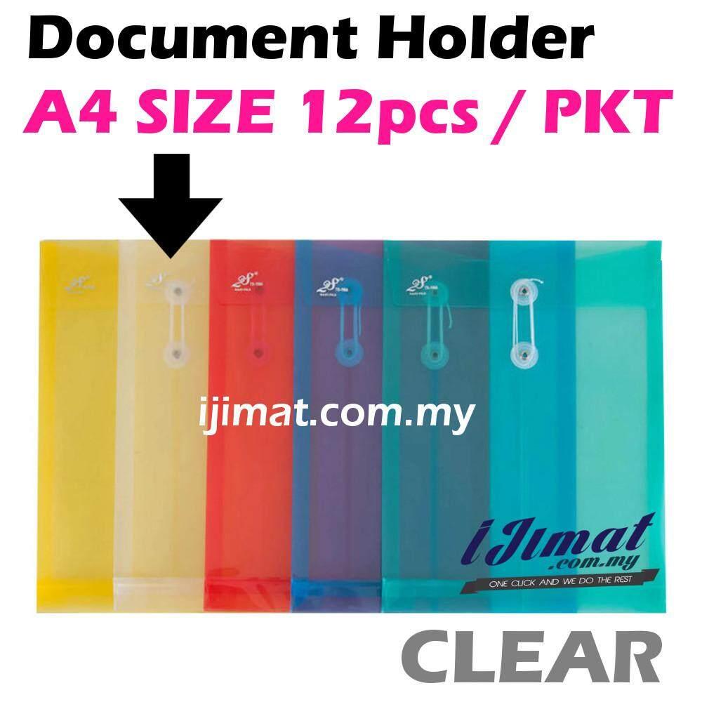 I JIMAT East-File TS-118A TS118A 118A Envelope File Colour Document Holder 12pcs/pack (CLEAR) Color Holder
