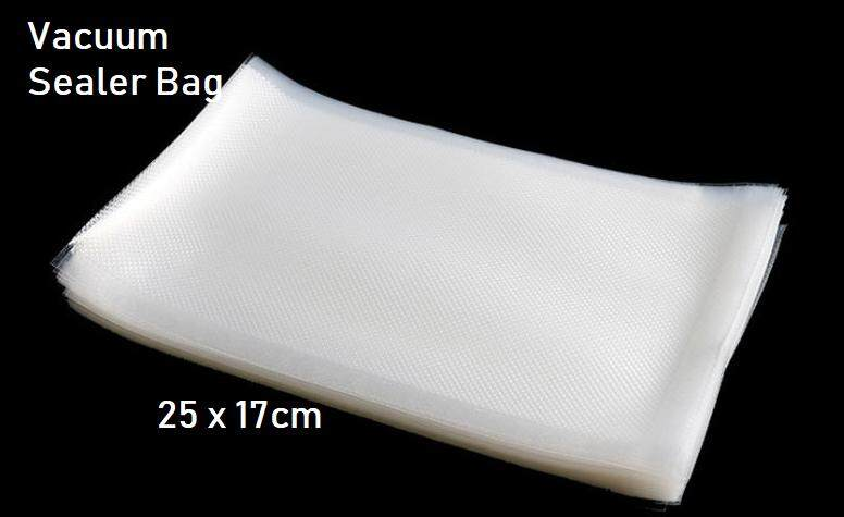 100 pcs Heavy Duty Vacuum Sealer Bags (Single Side Embossed) - 17 x 25cm