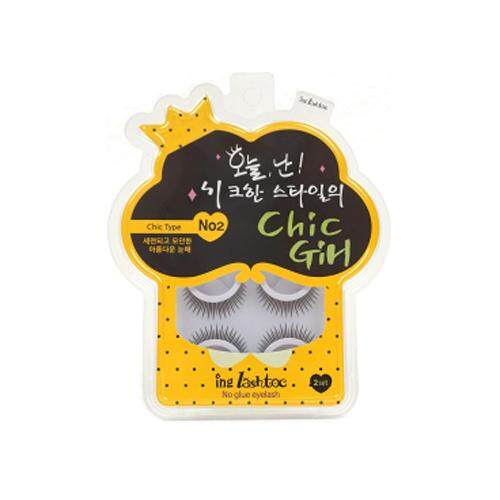 ING LASHTOC No Glue Eyelash 100g - 02 Chic Girl