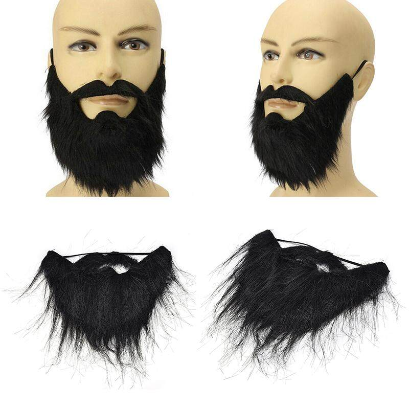 Funny Costume Party Male Man Halloween Beard Facial Hair Disguise Game Black Mustache